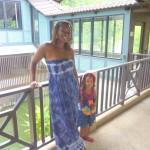 With my mummy, Greenery Resort, Thailand