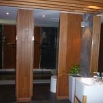 The lobby toilets