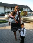 With baby Malaika & Amani outside Sea Cliff