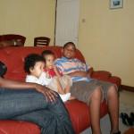 Stella, baby Malaika, Amani & Bobby at Kenny's house