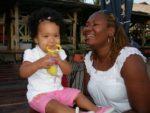 At Slipway with baby Malaika