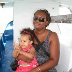 On the boat to Bongoyo Island