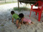Amani & baby Malaika at Kipepeo Village beach