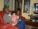 Kenny, baby Malaika & her friend