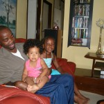 Kenny, baby Malaika & her friend
