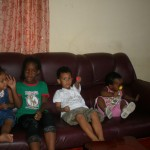At Blandia place, Amani & Malaika with her kids