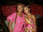 With bride to be