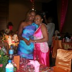 With Farida at Mange's Send Off Party
