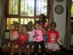 At Clara & Nicas place. Amani & Malaika with family Adili, Shakwana, Shanira & Asante
