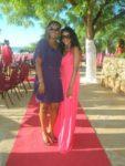 With Bella at wedding ceremony
