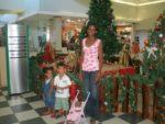 Amani & Malaika with dada Flora at Mlimani City Mall