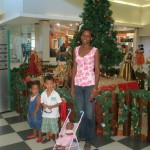 Amani & Malaika with dada Flora at Mlimani City Mall