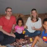 Aman & Malaika with their sis Skye & shemeji Simon
