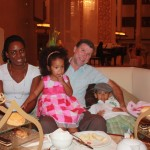 My family with Flora at Al Bustan Palace