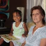 Malaika with her aunt Jenny