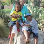 Amani & Malaika with their aunt Jenny