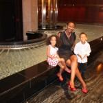With my kids Amani & Malaika