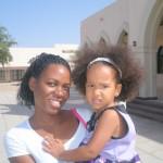 At the church, Malaika & Flora