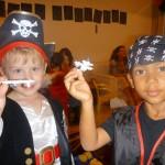 Little pirates Amani & his friend Kessy