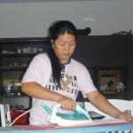 Our maid Prescy, Malaika's best friend
