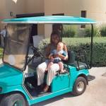 With baby James at Al Sawadi Beach Resort