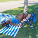 With baby James, Al Sawadi Beach Resort