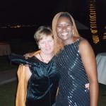 With friend Katherine