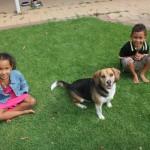 My kids with Grace nyumbani kwa dada yao Skye
