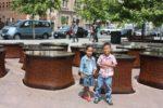 My watoto Amani & Malaika around town