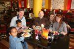 Tukiwa na kaka yake hubby Neville with his daughter Linda and mjukuu Britney. Tulikutana kwa lunch