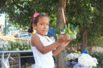 Malaika with her Lanton ready to make a wish