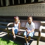 Kids outside our B&B