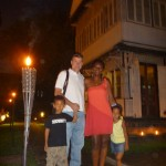 With family outside our B&B