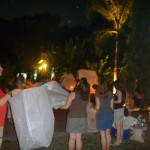 Celebrate New Year with Lanterns outside hotel