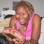 Yes, zawadi yangu toka kwa Jenny from Hobart, Australia. Love Tim Tam my smile say all
