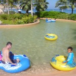 My family on the lazy river