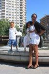 With my mum and sis Malaika in Madrid, Spain June 2011