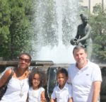 With my family mum, dad and sis Malaika in Madrid, Spain June 2011