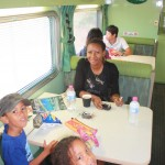 Inside the train from Darwin to Alice Spring Australia Oct. 2011