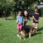 At my sis Skye house with Malaika and Grace. Adelaide Australia. Nov 2011