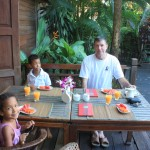 Having breakfast with my dad and sis Malaika in Chieng Mai, Thailand Nov. 2011