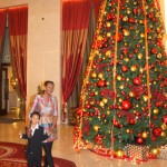 Christmas Day Shangri-la hotel Muscat with my mum. Dec.2011