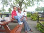 With my mum Ibis Hotel Amsterdam June 2011