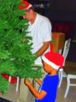 With my dad our Christmas tree day 1 Dec 2011