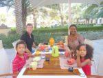 Breakfast Shangri-la hotel Muscat with my family dad, mum and sis Malaika. Dec 2011