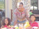 Breakfast time Shangri-la hotel Muscat with my mum and sis Malaika. Dec 2011