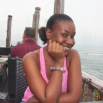 My lovely mdogo Tina at Karambezi Sea Cliff Hotel