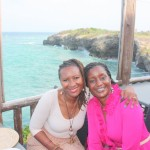 At Karambezi Sea Cliff Hotel with Maggie