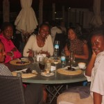 At Karambezi with friends Salome, Kay, Sharon, Maggie and baby sis Tina