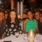 with my sisters,at Trader Vic's Intercontinental Hotel.